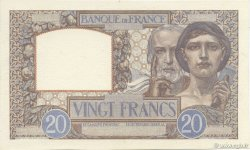 20 Francs SCIENCE ET TRAVAIL FRANCE  1939 F.12.00e9 SPL