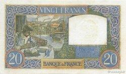 20 Francs SCIENCE ET TRAVAIL FRANCE  1940 F.12.04 TTB+
