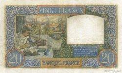 20 Francs SCIENCE ET TRAVAIL FRANCE  1941 F.12.17 TB+