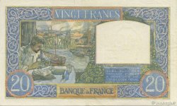 20 Francs SCIENCE ET TRAVAIL FRANCE  1941 F.12.19 SUP