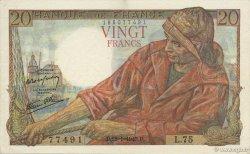 20 Francs PÊCHEUR FRANCE  1943 F.13.05 SUP+