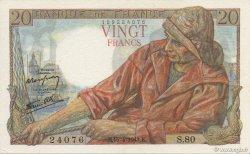20 Francs PÊCHEUR FRANCE  1943 F.13.06 SUP à SPL