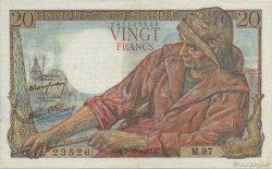20 Francs PÊCHEUR FRANCE  1943 F.13.07 SPL