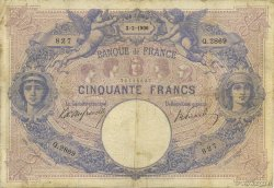 50 Francs BLEU ET ROSE FRANCE  1906 F.14.18 pr.TB