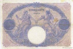 50 Francs BLEU ET ROSE FRANCE  1916 F.14.29 TB