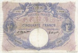 50 Francs BLEU ET ROSE FRANCE  1922 F.14.35 TB+