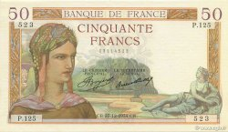 50 Francs CÉRÈS FRANCE  1934 F.17.02 SPL