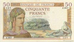 50 Francs CÉRÈS FRANCE  1935 F.17.06 TTB à SUP