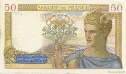 50 Francs CÉRÈS modifié FRANCE  1939 F.18.19 SUP+