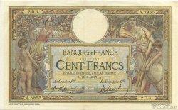 100 Francs LUC OLIVIER MERSON sans LOM FRANCE  1917 F.23.09 SUP+