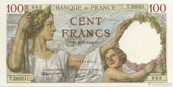 100 Francs SULLY FRANCE  1942 F.26.65