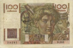 100 Francs JEUNE PAYSAN filigrane inversé FRANCE  1953 F.28bis.02 TB