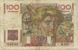 100 Francs JEUNE PAYSAN Favre-Gilly FRANCE  1947 F.28ter.01 B à TB