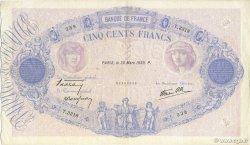 500 Francs BLEU ET ROSE modifié FRANCE  1939 F.31.29 TTB+ à SUP
