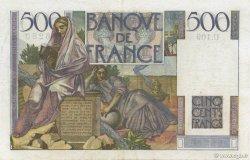 500 Francs CHATEAUBRIAND FRANCE  1952 F.34.09 pr.TTB