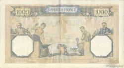 1000 Francs CÉRÈS ET MERCURE type modifié FRANCE  1938 F.38.27 TTB+