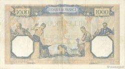 1000 Francs CÉRÈS ET MERCURE type modifié FRANCE  1938 F.38.29 TTB+