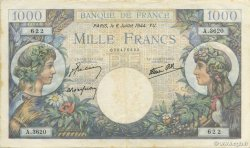 1000 Francs COMMERCE ET INDUSTRIE FRANCE  1944 F.39.10 pr.SUP
