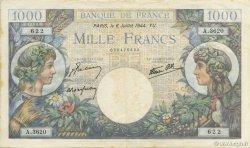 1000 Francs COMMERCE ET INDUSTRIE FRANCE  1944 F.39.10 pr.SUP