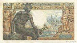 1000 Francs DÉESSE DÉMÉTER FRANCE  1942 F.40.11 pr.NEUF