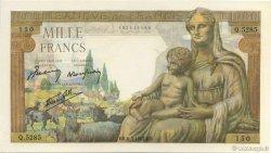 1000 Francs DÉESSE DÉMÉTER FRANCE  1943 F.40.23 NEUF