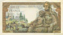 1000 Francs DÉESSE DÉMÉTER FRANCE  1943 F.40.31 pr.SPL