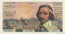 1000 Francs RICHELIEU FRANCE  1953 F.42.02 pr.SPL