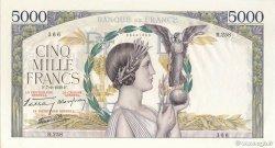 5000 Francs VICTOIRE Impression à plat FRANCE  1939 F.46.09 pr.SPL