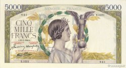 5000 Francs VICTOIRE Impression à plat FRANCE  1943 F.46.49 SPL