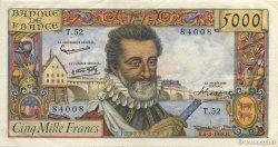 5000 Francs HENRI IV FRANCE  1958 F.49.06 SUP+