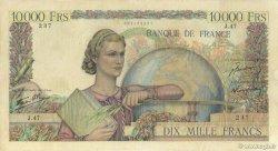 10000 Francs GÉNIE FRANÇAIS FRANCE  1946 F.50.02 pr.TTB