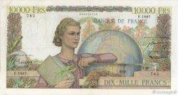10000 Francs GÉNIE FRANÇAIS FRANCE  1951 F.50.53 TB