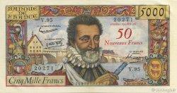 50 NF sur 5000 Francs HENRI IV FRANCE  1958 F.54.01 pr.SPL