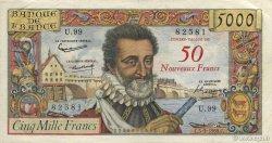 50 NF sur 5000 Francs HENRI IV FRANCE  1959 F.54.02 TTB+