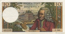 10 Francs VOLTAIRE FRANCE  1967 F.62.24 pr.SUP
