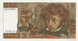 10 Francs BERLIOZ FRANCE  1975 F.63.14 SUP+