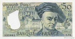 50 Francs QUENTIN DE LA TOUR FRANCE  1992 F.67.19c SPL+