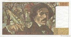 100 Francs DELACROIX modifié FRANCE  1978 F.69.01d SUP à SPL