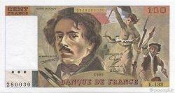 100 Francs DELACROIX modifié FRANCE  1989 F.69.13a pr.NEUF