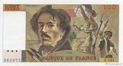 100 Francs DELACROIX modifié FRANCE  1989 F.69.13a SPL+