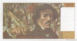 100 Francs DELACROIX imprimé en continu FRANCE  1993 F.69bis.07 SUP+