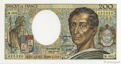 200 Francs MONTESQUIEU FRANCE  1981 F.70.01 SPL