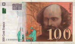 100 Francs CÉZANNE sans STRAP FRANCE  1998 F.74bis.02 pr.SUP