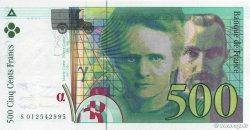 500 Francs PIERRE ET MARIE CURIE sans STRAP FRANCE  1994 F.76qua.01 pr.NEUF
