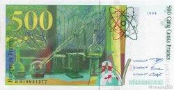 500 Francs PIERRE ET MARIE CURIE sans le symbole du Radium FRANCE  1994 F.76ter.01 NEUF