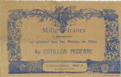 1000 Francs Cotillon Moderne FRANCE régionalisme et divers  1930 F.-- TTB