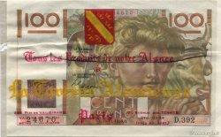 100 Francs JEUNE PAYSAN FRANCE régionalisme et divers  1950 F.28.28 SPL