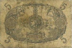 5 Francs rouge, type 1874 modifié 1901 GUADELOUPE  1919 K.102c B+