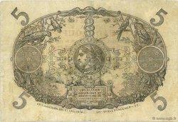 5 Francs Cabasson rouge GUADELOUPE  1923 P.07- TB à TTB