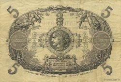 5 Francs rouge, type 1874 modifié 1901 GUADELOUPE  1923 K.102h TTB